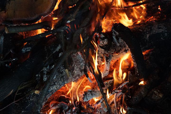 Fire, Camp, Campfire, Outdoor, Flames, Night, Wood