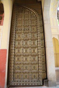 Door, Rajasthan, Jaipur, India, Palace, Tourism, Gate