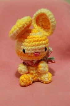 Toy, Bunny, Rabbit, Crochet, Cute, Small, Mice, Yellow