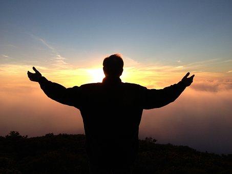 Prayer, Spiritual, Love, Peace, Holy, Man, Spread, Arms