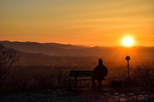 Sunset, Dzhendem Tepe, Man