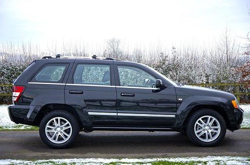 Car, Clear Sky, Jeep, Landscape, Snow, Street, Suv
