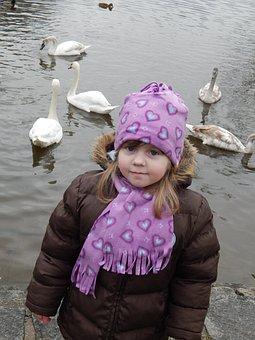 Swans, Child, Adelka, Baby Girl, Girl