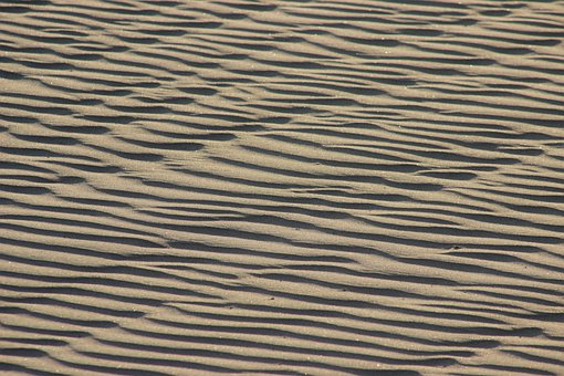 Sand, Desert, Waves, Texture, Textured, Arid, Hot