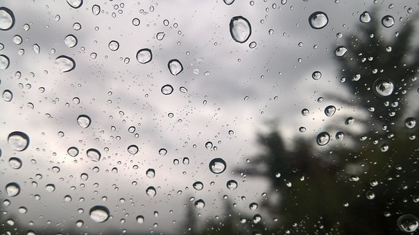 Rain Drops On Window, Rain, Drops, Window, Glass