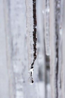 Ice, Icicle, Drip, Cold, Winter, White, Defrost, Snow