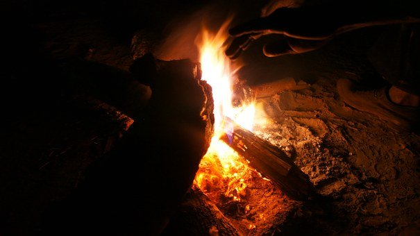 Night, Fire, Flame, Dark, Burning, Wood, Bonfire, Heat