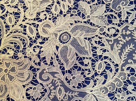 Point De Rose, 19th Century Needle Lace