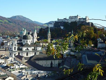 Salzburg, Fortress, Austria, Old Town