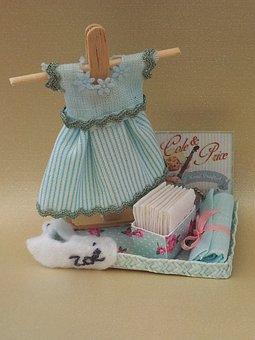 Miniature, Baby, Zoé, Birth, Gift, Baptism, Baby Girl