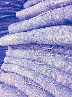 Jeans, Jean Stack, Blue Canvas, Store, Pants, Garment