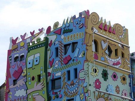 Braunschweig, Building, House, City, Modern, Facade