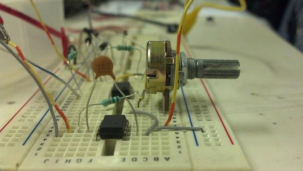 Electronics, Potentiometer, Capacitor, Breadboard