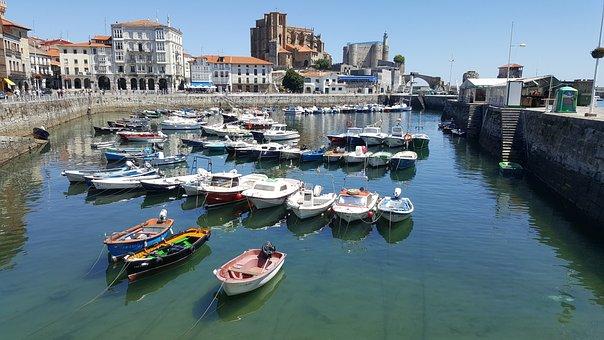 Cantabria, Spain, Marinero, Urdiales, Castro, Boat