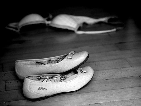 Shoe, Floor, Ground, Wood, Background, Bra, Clothing