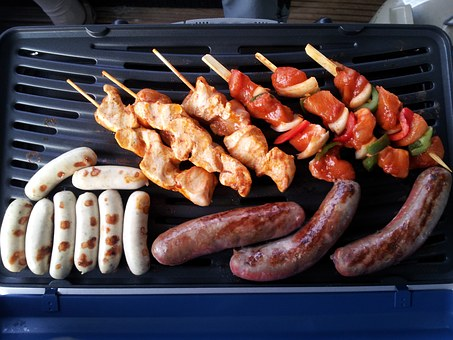 Barbecue, Meat, Sausages, Delicious, Gas Grill