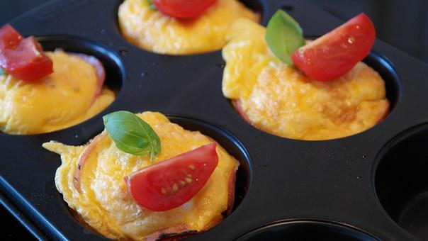 Egg, Egg Muffin, Breakfast, Food, Ham, Fried