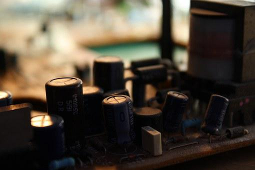 Capacitor, Circuit Board, Electronics, Old, Recycling