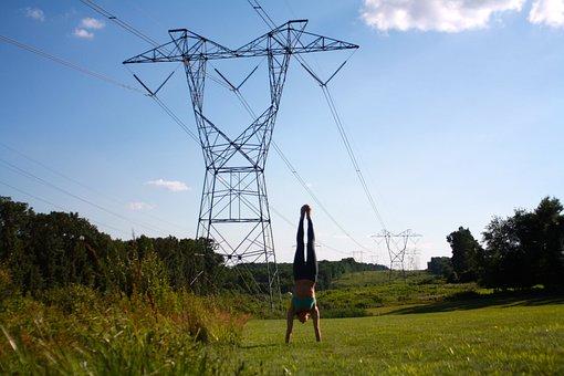 Yoga, Power, Handstand, Girl, Health, Female, Exercise