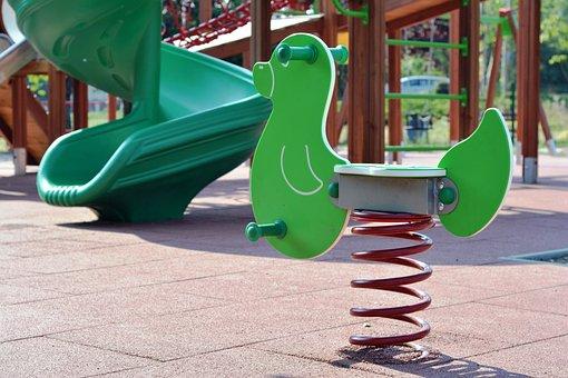 Playground, Floating In The Air, Bujaczek, Swing, Fun