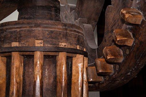 Göpel Drive, Gear, Gearings, Woods, Wood, Niederbayern
