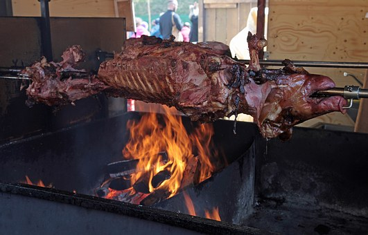 Suckling Pig, Pig, Spit Roast, Grill, Barbecue