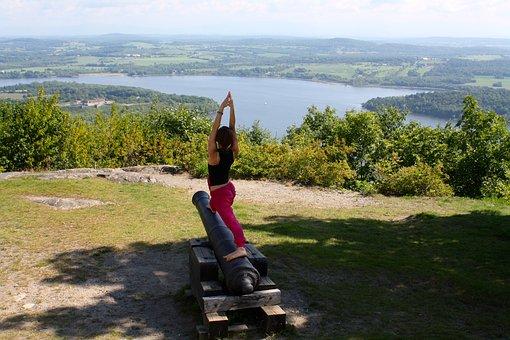 Yoga, Power, Warrior, Girl, Health, Female, Exercise