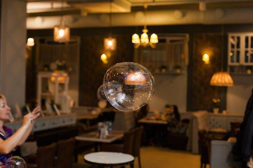 Flies, In The Air, Bubble, Beautiful, Focus, Café