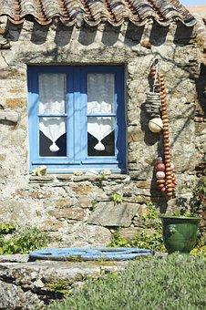 House, Brittany, Breton, Granite, Holiday, Yeu, Island