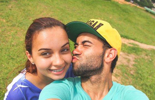 Boyfriends, Love, Casal, Kiss, Young, Brasilian, Smile