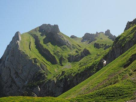 Marwees, Mountains, Alpine, Säntis Region, Meglisalp