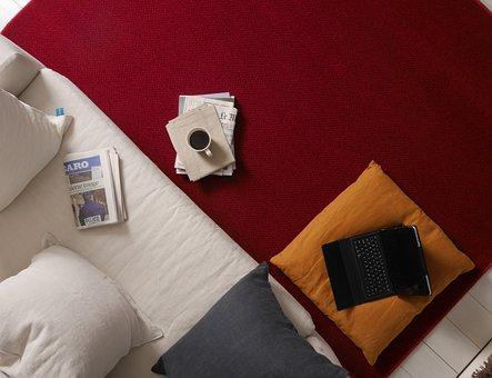 Living Room, Carpet, Break, Coffee, Newspaper, Morning