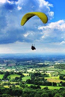 Paragliding, Parachute, Extreme, Sport, Sky, Air