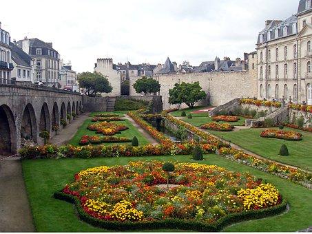 Morbihan, Valves, Castle, Park, Public Garden