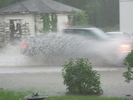 Flah Flooding, Rain Water, Spray, Rain, Falling