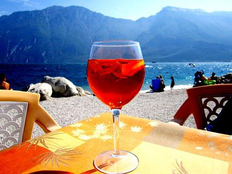 Aperol, Sprizz, Champagne Glass, Red, Alcohol, Drink