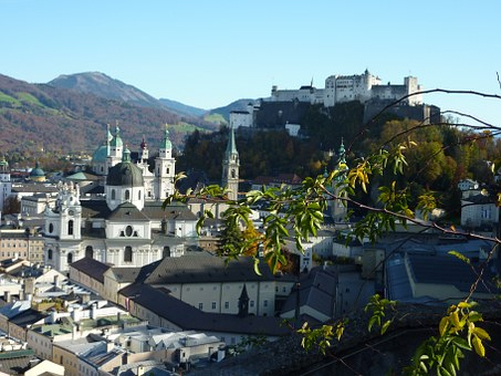 Salzburg, Fortress, Austria, Historic Center