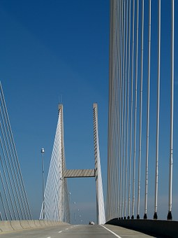 Sidney Lanier Suspension Bridge, Suspension Bridge