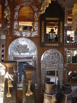 Metal Work, Display, Store, Products, Ornate, Silver