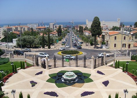 Gardens, Haifa, Terraces, Terraced, Bahaism