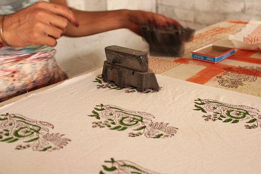 Printing, Textiles, Dyes, Craftsman, Block, Pattern
