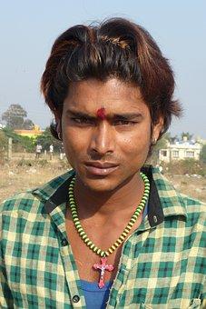 Male, Portrait, India, Rural, Gypsy, Villager, Ethnic