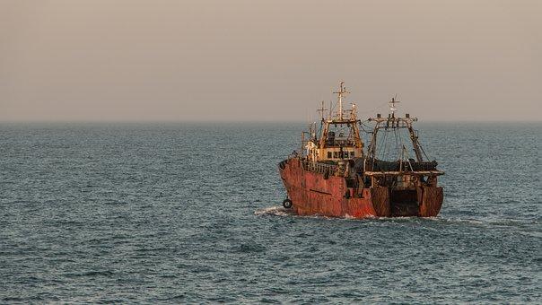 Fishing, Mar Del Plata, Sea, Boat, Water, Argentina