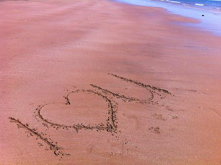 Love, I Love You, Sand, Message, Writing, Beach