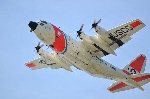 Aircraft, Flying, Coastguard, Rescue, Transport