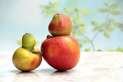 Fruit, Apple, Gene Defect, Freak Of Nature, Still Life
