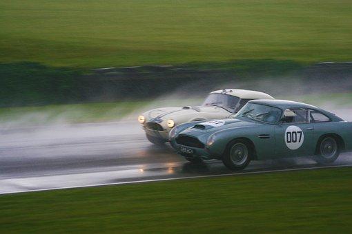 Ac Cobra, Aston Martin, Goodwood, Racing, Rain