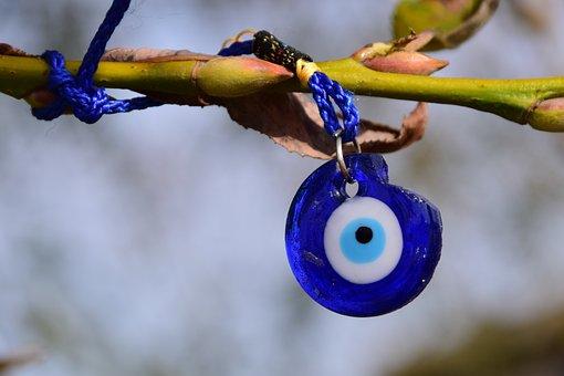Eye, Lucky Charm, Symbol, Protection, Talisman, Blue