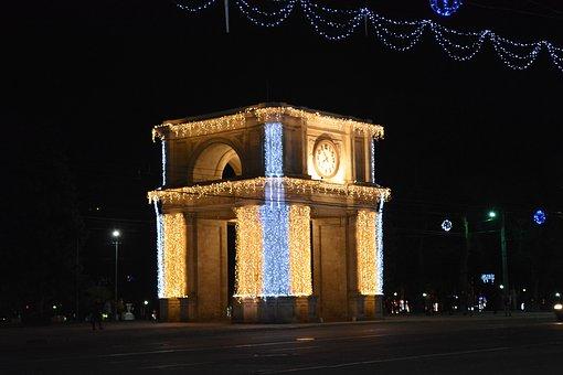 Arc De Triomphe, Central Square, Chișinău, Moldova