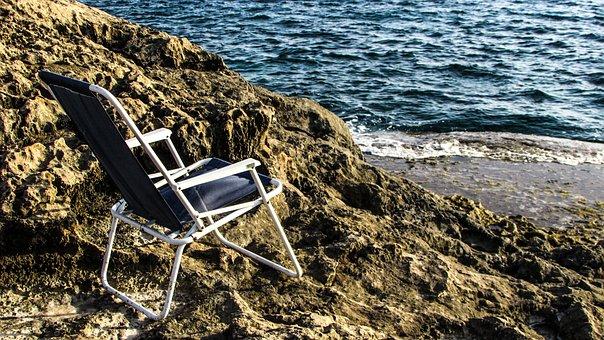 Chaise Longue, Chair, Rock, Rocky Coast, Tourism